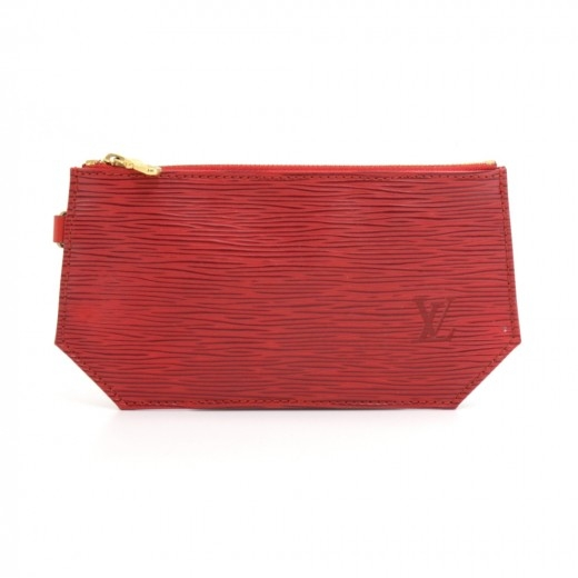 Louis Vuitton Red Epi Flat Hexagonal Pouch