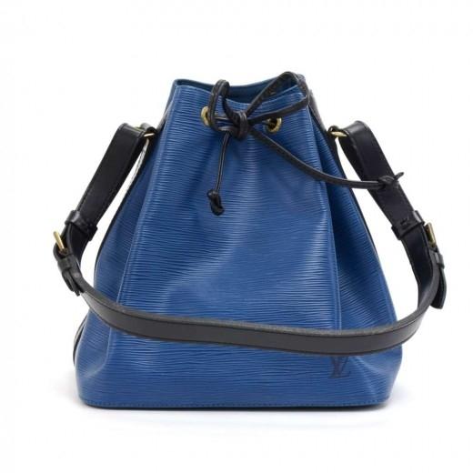 Vintage Louis Vuitton Petit Noe Vio Blue x Black E...