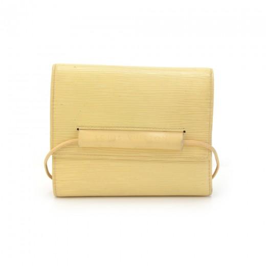 Louis Vuitton Portefeullie Elastique Vanilla Epi L...