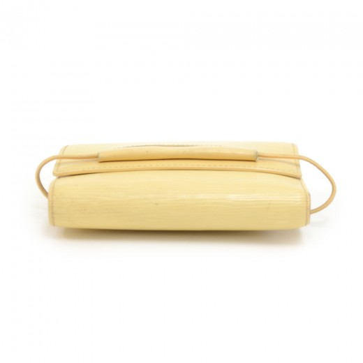 Louis Vuitton Portefeullie Elastique Vanilla Epi Leather Trifold Wallet