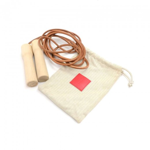 Hermes Wood & Leather Jump Rope- 2013 Limited & Ra...