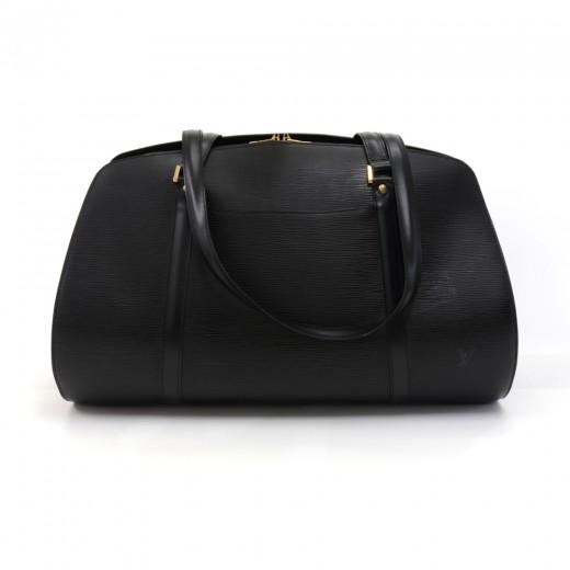 Vintage Louis Vuitton Solferino 45 Black Epi Leath...