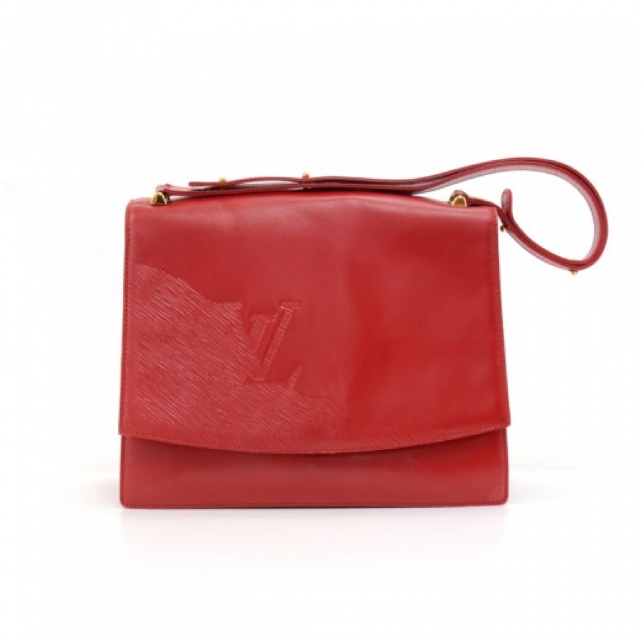 Vintage Louis Vuitton Opera Line Delphes Red Leather Shoulder Bag