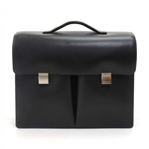 Louis Vuitton Serviette Tobol Black Taiga Leather ...