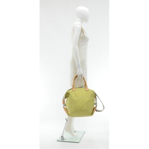 Louis Vuitton LV Cup 2003 Lime Damier Geant Canvas Boston Bag