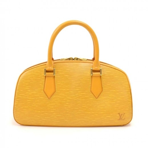 Vintage Louis Vuitton Jasmin Yellow Epi Leather Ha...