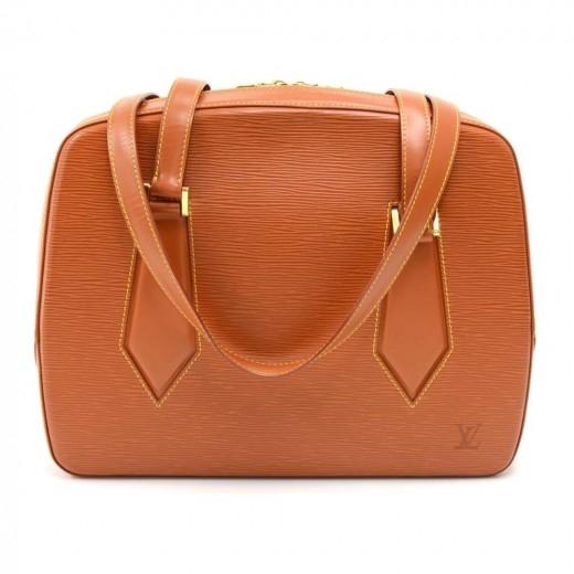 Louis Vuitton Voltaire Brown Cipango Gold Epi Leat...