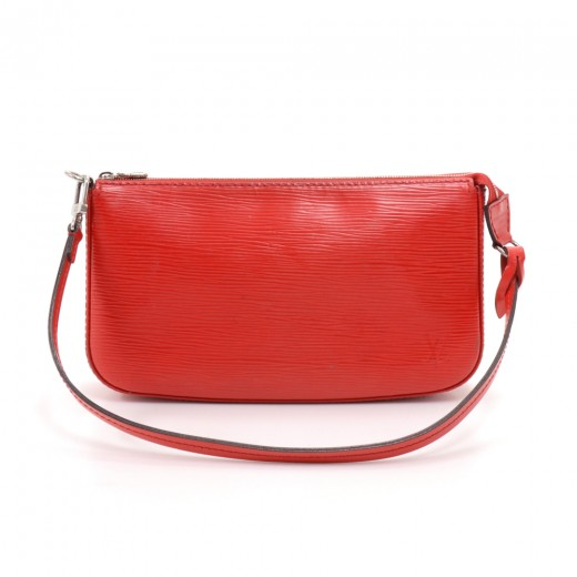 Louis Vuitton Pochette Accessoires Red Epi Leather...