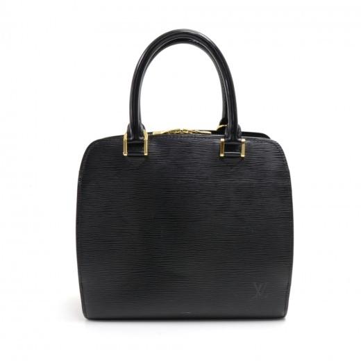 Louis Vuitton Pont Neuf Black Epi Leather Handbag