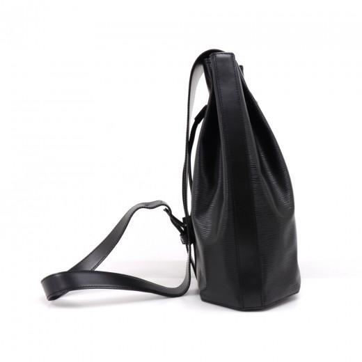 Vintage Louis Vuitton Sac A Dos Black Epi Leather Drawstring Shoulder Bag