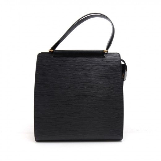 Louis Vuitton Figari MM Black Epi Leather Handbag