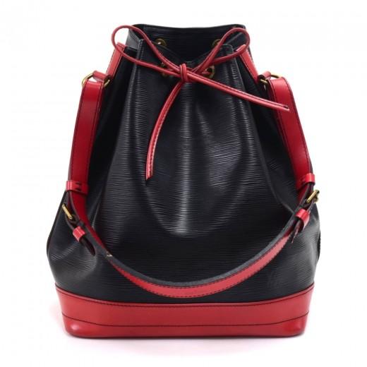 Vintage Louis Vuitton Noe Large Bicolor Red & Blac...