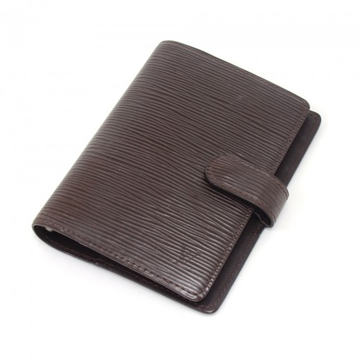 Louis Vuitton Mocha Epi Leather Small Agenda Cover...