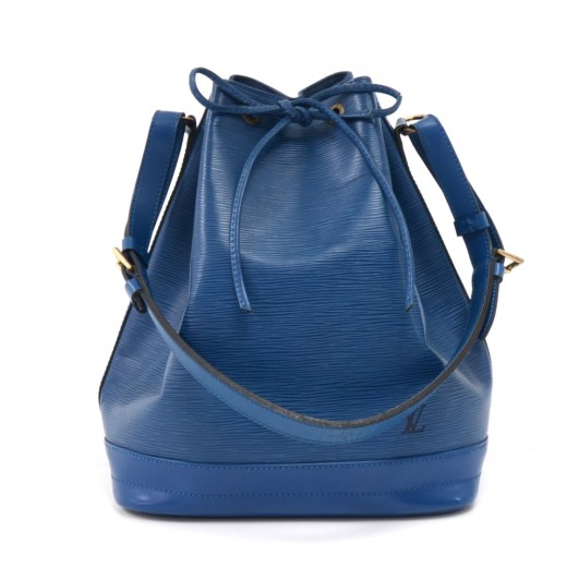 Vintage Louis Vuitton Noe Large Blue Epi Leather S...