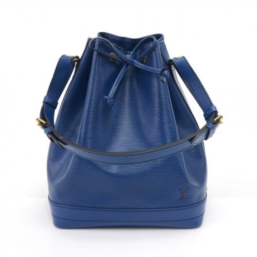 Vintage Louis Vuitton Noe Large Blue Epi Leather S...