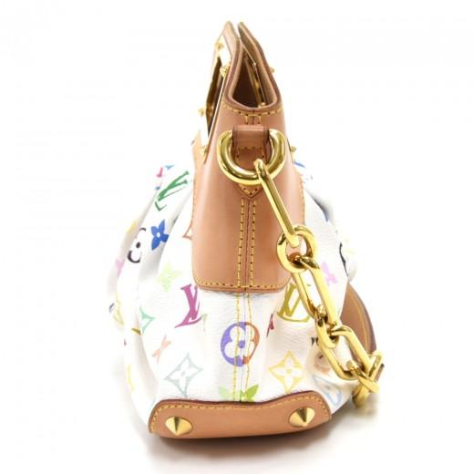 Louis Vuitton Judy PM White Multicolor Monogram Canvas Handbag
