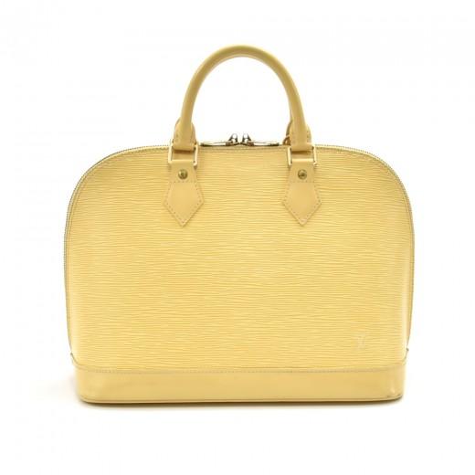 Louis Vuitton Alma Vanilla Epi Leather Handbag