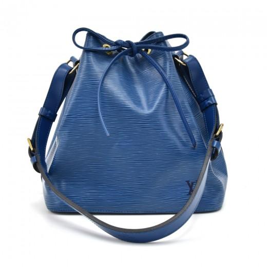 Vintage Louis Vuitton Petit Noe Blue Epi Leather S...