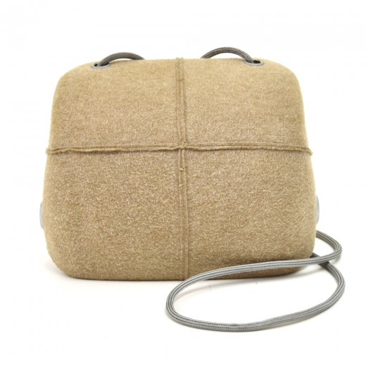 Chanel Millenium Beige  Felt Hard Case Shoulder Ba...
