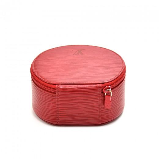 Louis Vuitton Ecrin Bijoux Red Epi Leather Jewelry Case