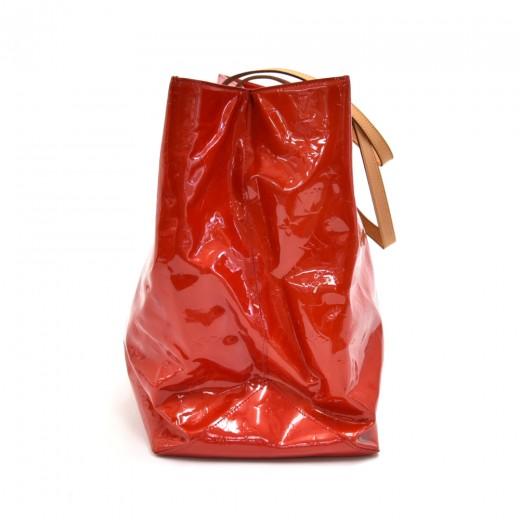 Louis Vuitton Reade GM Red Vernis Leather Handbag