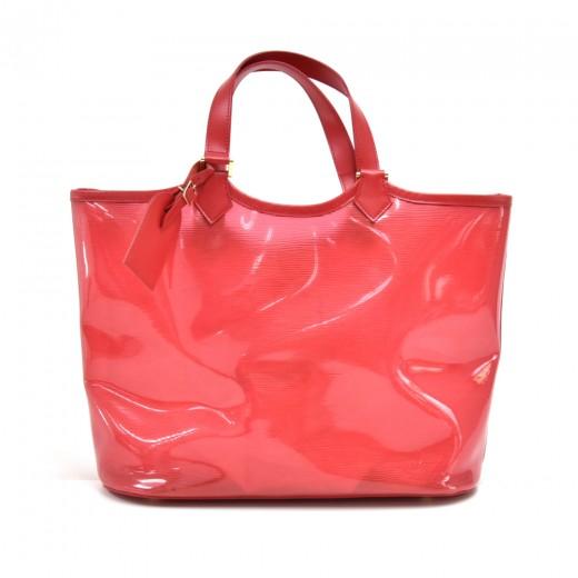 Louis Vuitton Plage Lagoon MM Red Vinyl Beach Tote Bag