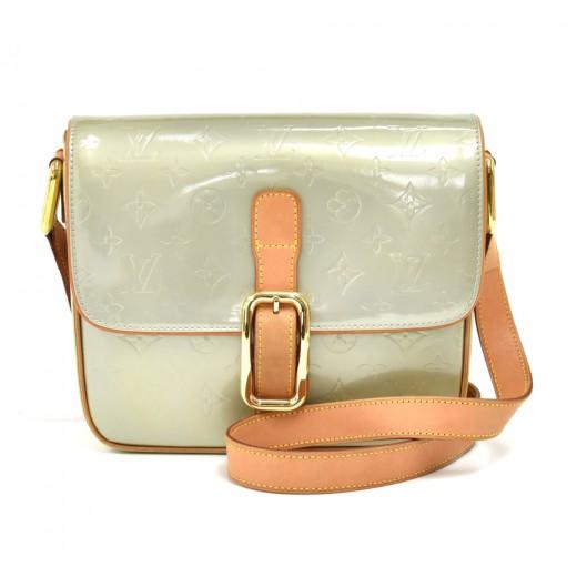 Louis Vuitton Christie GM Light Green Vernis Leather Shoulder Medium Bag