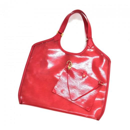 Louis Vuitton Plage Lagoon GM Red Vinyl Epi & Leat...