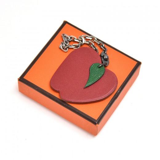 Hermes Apple Leather Bag Charm/ Key Chain