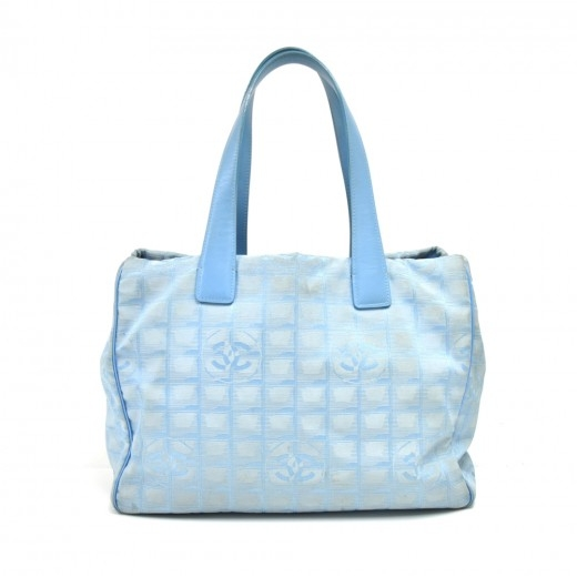 Chanel Travel Line Light Blue Jacquard Nylon Mediu...
