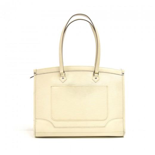 Louis Vuitton Madeleine GM White Epi Leather Shoul...