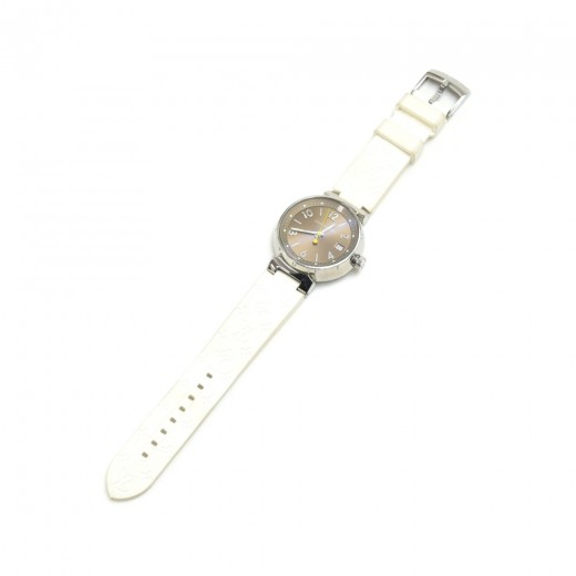Louis Vuitton Tambour Bronze Dial White Monogram R...