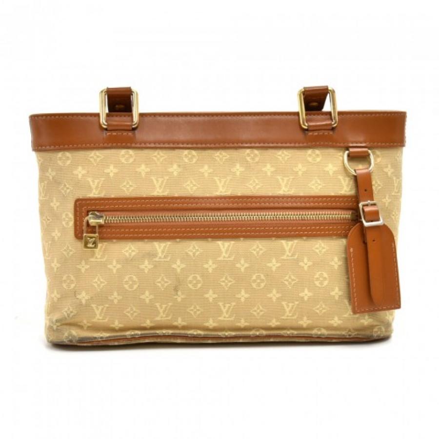 Louis Vuitton Lucille PM Beige Monogram Mini Lin Canvas Shoulder Bag