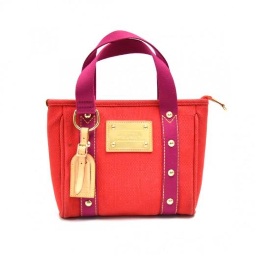 Louis Vuitton Cabas PM Red Antigua Canvas Handbag - 2006 Limited