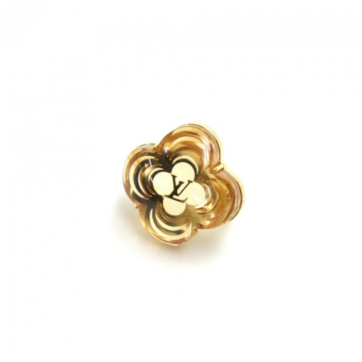 Louis Vuitton A La Folie Gold-Tone & Resin LV Logo...