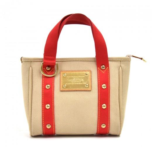 Louis Vuitton Cabas PM Beige & Red Antigua Canvas ...