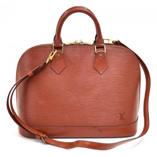 Louis Vuitton Alma Brown Kenyan Fawn Epi Leather H...
