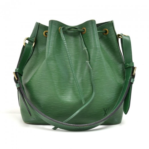 Louis Vuitton Petit Noe Green Epi Leather Shoulder...