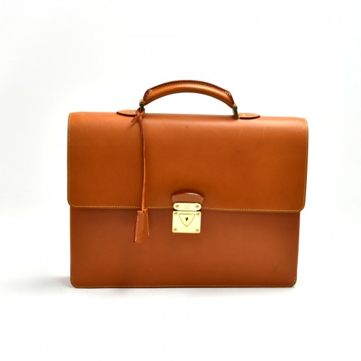 Louis Vuitton Nomade Robusto Brown Leather Briefca...