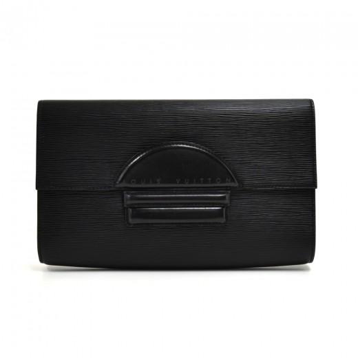 Vintage Louis Vuitton Pochette Chaillot Black Epi ...