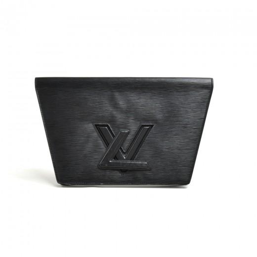Vintage Louis Vuitton Pochette Trapeze GM Black Ep...