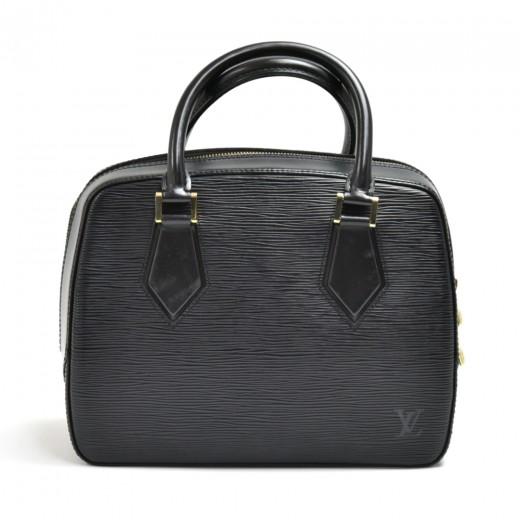 Vintage Louis Vuitton Sablon Black Epi Leather Han...