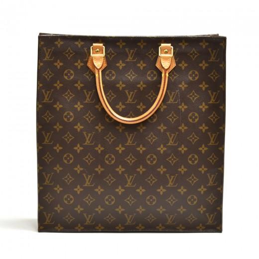 Vintage Louis Vuitton Sac Plat Monogram Canvas Tot...
