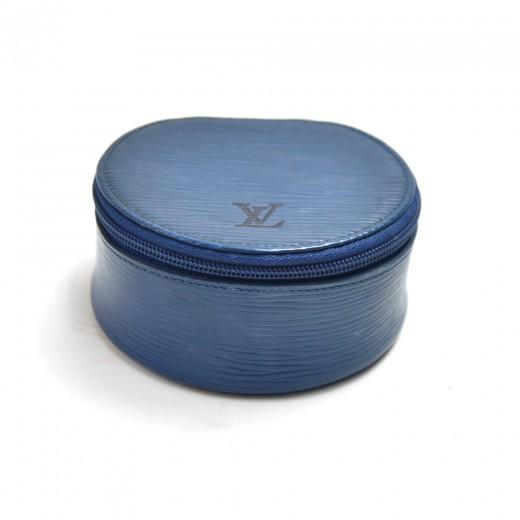 Louis Vuitton Ecrin Bijoux Blue Epi Leather Mini J...