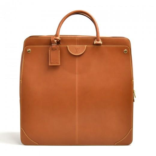 Louis Vuitton Negev GM Caramel Brown Nomade Leathe...