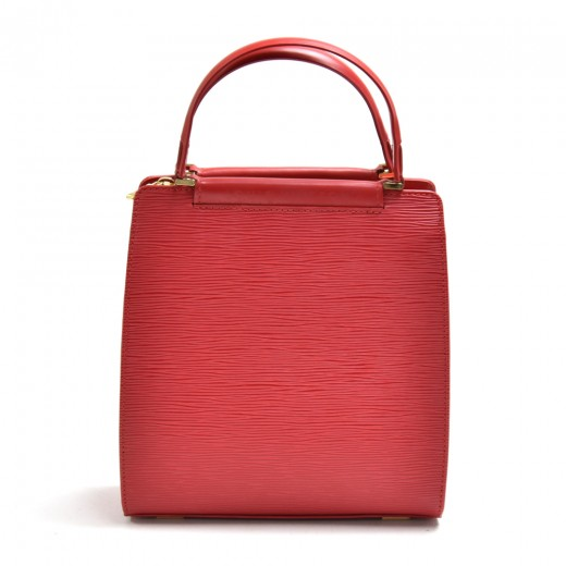 Louis Vuitton Figari PM Red Epi Leather Handbag