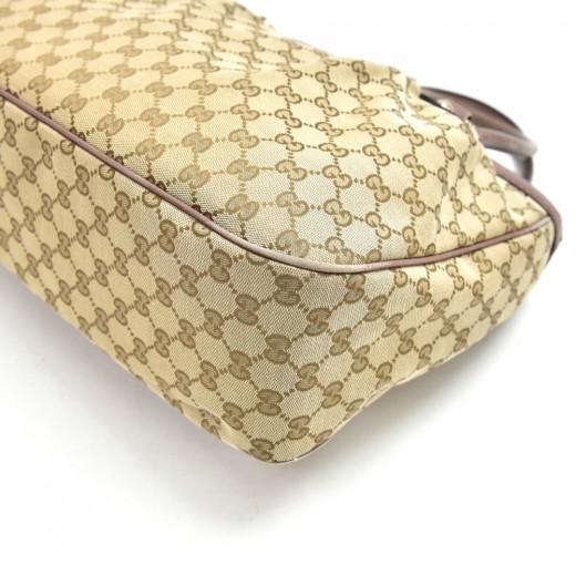 Gucci Surkey GG Canvas & Light Purple Leather Top Handle Tote Bag