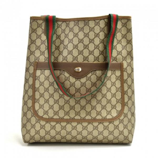 Vintage Gucci Accessory Collection Beige GG Suprem...