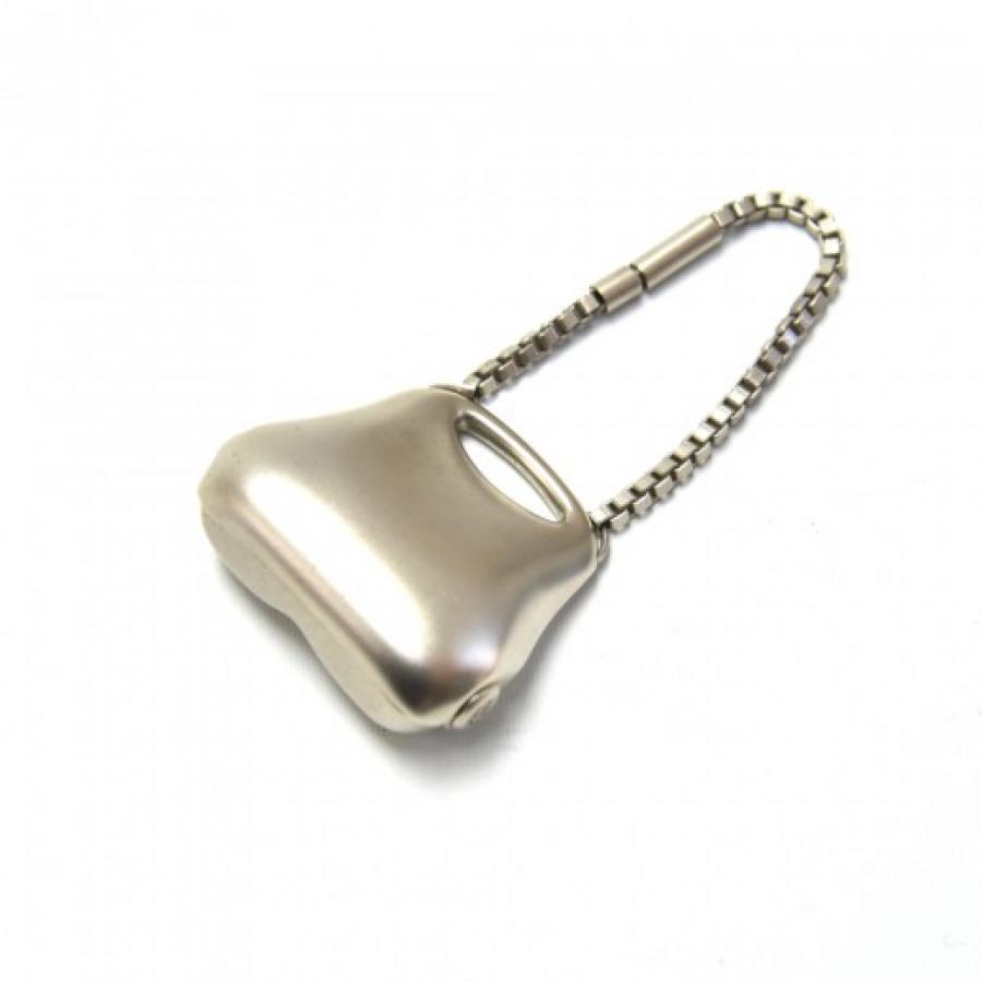 Chanel Silver Millenium or Butt Bag Motif Bag Charm