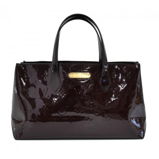 Louis Vuitton Willshire Purple Amarante Vernis Lea...